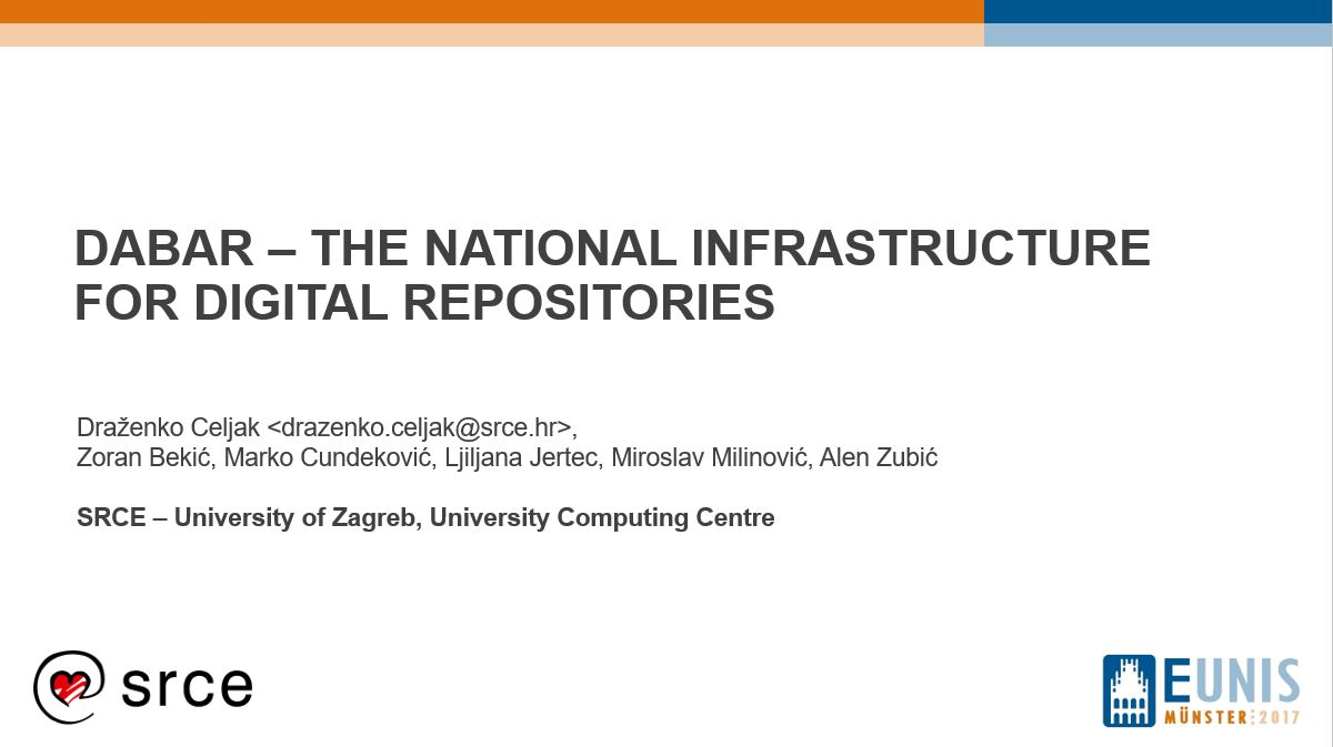 DABAR - the national infrastructure for digital repositories