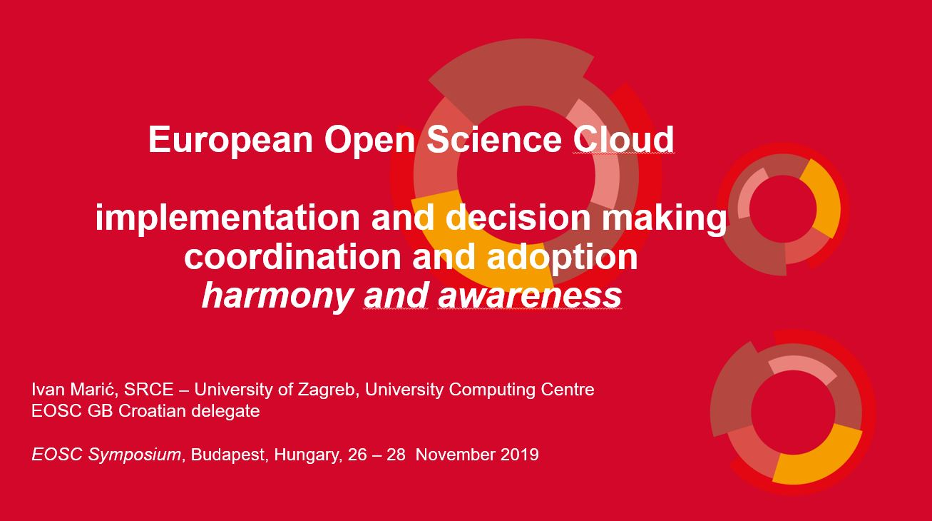 prikaz prve stranice dokumenta European Open Science Cloud : implementation and decision making coordination and adoption harmony and awareness