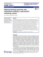 Aligning learning outcomes and assessment methods: a web tool for e-learning courses